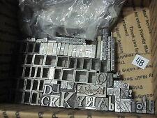11Lb of Letterpress Font Type Symbols Letters Words