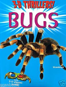 3-D Thrillers BUGS Educational Book with 3D Glasses Included Ages 3+