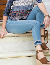 Woman's EARL JEANS Skinny Ankle Boho Hem Size 18W Stretch Jeans $54