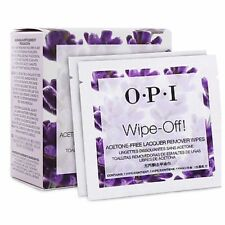 10 X OPI Wipe Off! ACETONE FREE Lacquer Remover Wipes **Great for Travel**