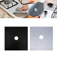 4Pcs Aluminum Gas Foil Stove Burner Protector Cover Liner Clean Mat Pad Reusable