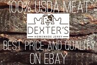 Homemade All Natural USA Made Beef Jerky Tenders Fillets Treats for Pets!