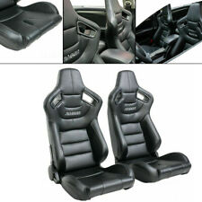 Pair Universal Reclinable Bucket Seats Chairs Sport Racing Slider Adjustable Fits Toyota Celica