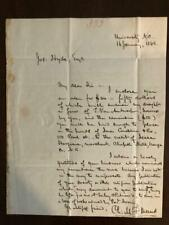 Charles Force Deems Autograph Letter Raleigh North Carolina UNC 1844