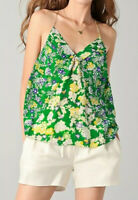 Rebecca Taylor Size 4 Silk Garden Flower Patched Camisole Top Blouse NWT $225