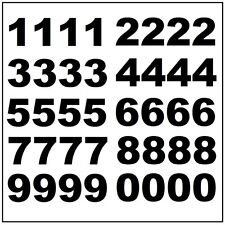 "Lot of 40 - 3 1/2""  Black Vinyl Mailbox, Tool Box, Locker Numbers Decal Stickers"