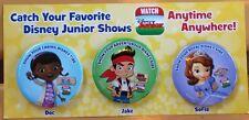 Disneyland DCA Disney Junior Live Button Pin Set Doc McStuffins Sofia Jake NEW