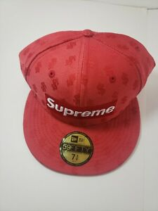 Supreme Box Logo Bogo New Era fitted hat Size 7 3/8, RedMonogram SS18H54