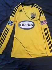 Adidas ClimaCool Columbus Crew Formotion Yellow Home Jersey Men's Small Nwt