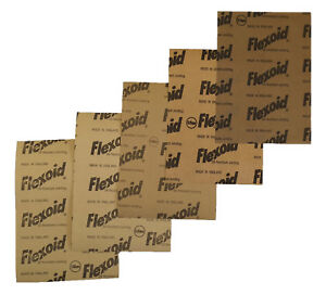GASKET PAPER MATERIAL - OIL & WATER RESISTANT, FLEXOID BRAND - 5 X A4 SHEETS