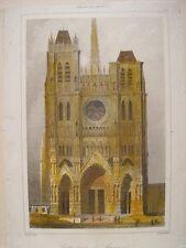France. «Cathédrale d´Amiens» Gravure Agustín Francois Lemaitre (grabado)