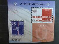 MALTA 2014 ANNIVERSARIES 2 STAMP MINI SHEET MNH