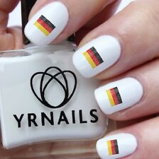 Nail WRAPS Nail Art Water Transfers Decals - Scribbe German Flag Deutsche - S640