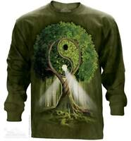 Yin Yang Tree Long Sleeve T-Shirt by The Mountain.Tree Tee S-2XL NEW