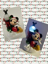 Disney Mickey Mouse Christmas Holiday Light Up Figure Garden Statue Lamp Post