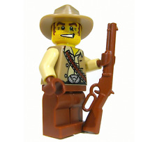 (5x) Brickarms Lever Action Rifle for Lego Minifigures (Brown)
