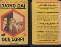 L'Uomo Dai Due Corpi ,Edgar Wallace  ,Mondadori ,1929