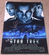 STAR TREK THE FUTURE BEGINS SIGNED AUTOGRAPH 12x18 PHOTO ABRAMS QUINTO w/PROOF