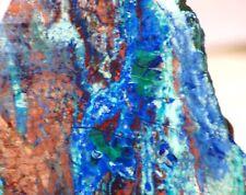 Blue Bird Mine Chrysocolla Azurite Malachite Cuprite slab 5.4 oz (155 grams)