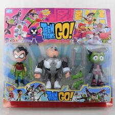 3pcs set Comics TEEN TITANS GO! Action Figure robin RAVEN beast boy Toy gifts UK