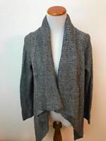 J. JILL gray wool blend open cardigan sweater Women's PM