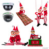 "ELF BEHAVING BADLY | Naughty 12"" Elf Christmas Camera Santa Sleeping Bag Swing"