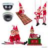 "Elf Behaving Badly Naughty 12"" Elf Christmas Camera Santa Sleeping Bag Swing"