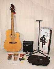 Rocket Music Gitarre Westerngitarre + Fishman Tonabnehmer + Accessory Pack GAP-W