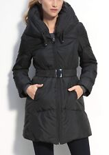 TAHARI Quilted Down Coat Black XS