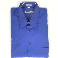 Mondo di Marco Size 16.5 Italy 42 Blue Long Sleeve Men's Shirt NWT A02151