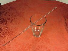 "14"" Long Glass Stirring Stick Lot of 2 Swizzle Mixing Stir Test Rod 7mm diameter"