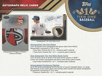 2018 TOPPS TIER ONE BASEBALL HOBBY RANDOM PLAYER 1 BOX BREAK #5