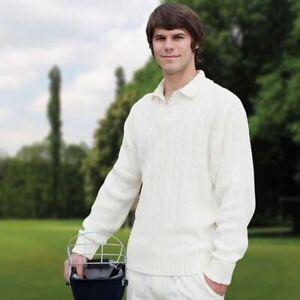 NEW Mens Youths Finden & Hales Cricket Sweater Cricket White/Cream LV132
