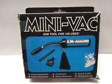 Mini-Vac Mini Vacuum Blower Cleaner for Computers Cameras Lenses Video Etc