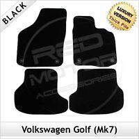 Volkswagen VW Golf Mk7 2013 onwards Tailored LUXURY 1300g Carpet Car Mats BLACK