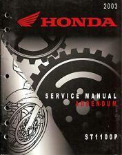 New listing 2003 Honda St1100P Police Motorcycle Service Manual Addendum -St1100 Police