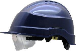 Schutzhelm IRIS 2, NEU,  mit integr. Schutzbrille klar, verschiedene Farben
