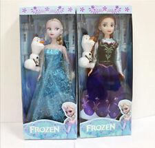 New 2pcs 30CM Disney Frozen Elsa&Anna princess Christmas Playset Figures Doll