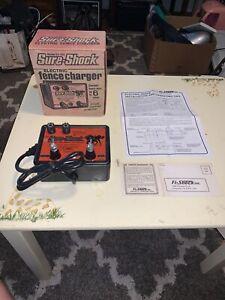 Sure-Shock Electric Fence Charger Model SS-550 2 Fuse 6 mile range FI-SHOCK UL