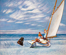 Ground Swell by Edward Hopper A1+ Quality Canvas Print