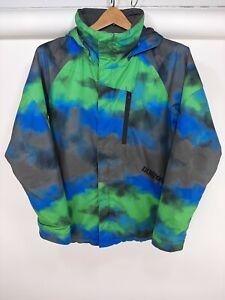 Burton DryRide Ski SnowBoard Jacket Youth XL Blue Gray & Green Tie Dye