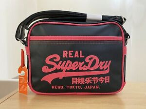 Superdry Mini Alumni Bag - Navy/Hot Coral BNWT