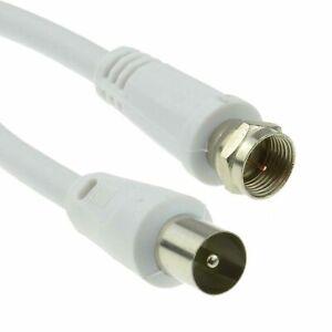 1M F Satellite Coax Mâle RF Adaptateur Coaxial TV vers Câble Connecteur Antenne