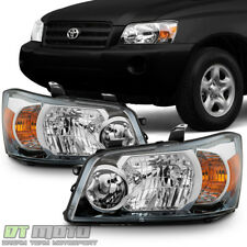 2004 2005 2006 Toyota Highlander Factory Style Headlights Replacement Headlamps