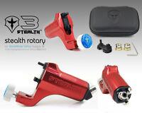 STEALTH GEN 3.0 Aluminum Rotary Tattoo Machine Liner Shader Supply Ink (RED)