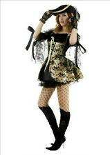 Sexy Pirate Queen Fancy Dress Costume Size 8-10