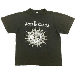 Vtg Alice In Chains T-Shirt Tribal Sun 2006 Logo Rock Band Tour Concert Tee Sz M