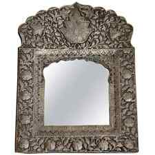 Bohemian Style India Hammered Metal Mirror