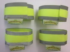 DOG WALKING COLLAR REFLECTIVE HI VIS CUFFS STRIPS FLUORESCENT PROTECTION STRAPS