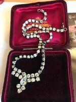 Vintage Art Deco Diamanté Necklace